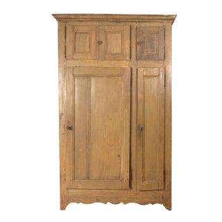 Tall Painted Pine Housekeeper's Cupboard, Swedish Circa 1800