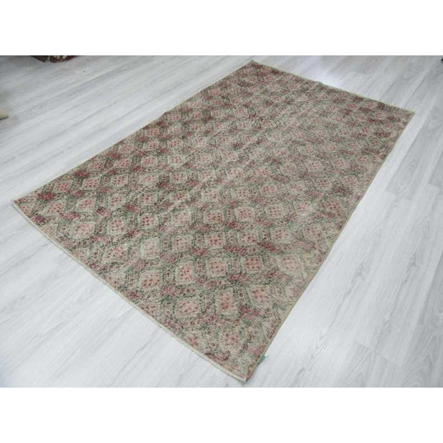 Vintage Turkish Art Deco Hand-Knotted Rug - 5′1″ × 7′11″ For Sale - Image 5 of 6
