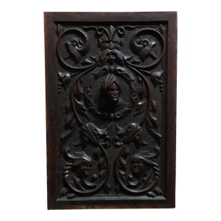 19th century Antique carved Oak Wall Panel