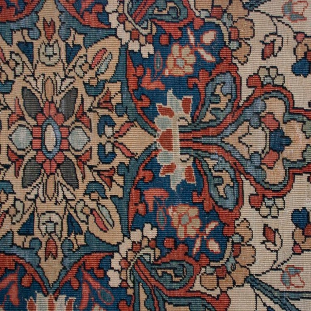 "19th Century Saruk Farahan Carpet - 10' x 6'9"" For Sale In Chicago - Image 6 of 6"