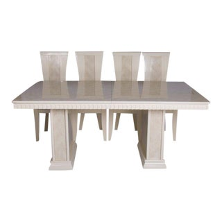 John Turano Italian Dining Table & Chairs - Set of 5 For Sale