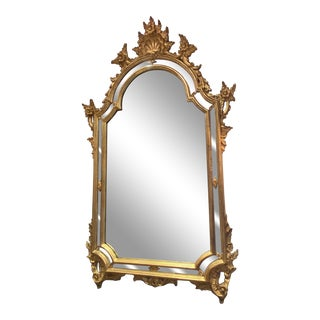 Rococco Style Large Giltwood Wall Mirror For Sale