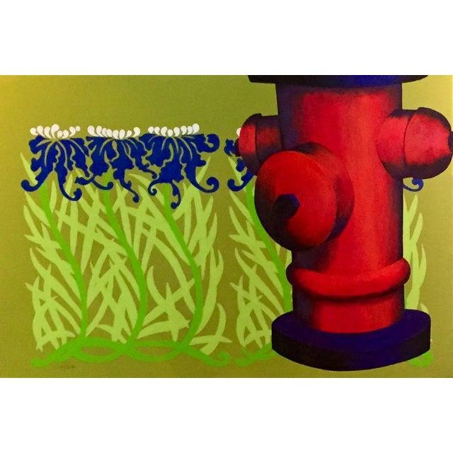 "Modern Original ""Summer Sprinkler"" Acrylic Painting For Sale - Image 3 of 4"