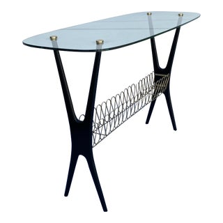 1950's Italian X-Base Console Table For Sale