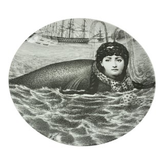 Piero Fornasetti Plate #195 Made in Italy For Sale