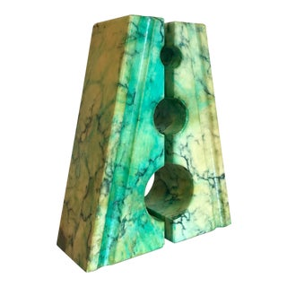Italian Dyed Marble Bookends