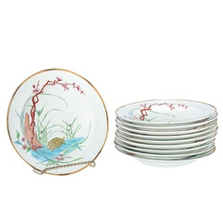 19th Century Vintage Chinoiserie Soup Dishes- Set of 10 For Sale