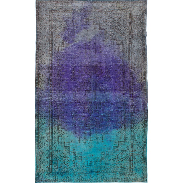 "Vintage Turkish Overdyed Rug - 5'5"" x 8'10"" - Image 1 of 2"