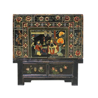 Vintage Chinese Black Oriental Cabinet