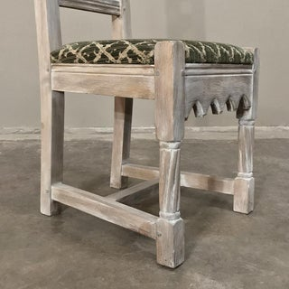 Early 20th Century Antique Rustic Gothic Stripped Dining Chairs- Set of 6 Preview