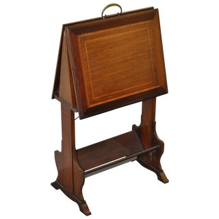 Inlaid Mahogany Folding Art Stand C.1910 For Sale