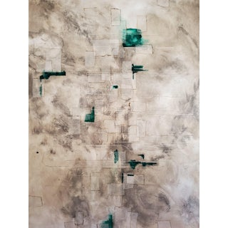 2018 Archipelago Abstract Mixed-Media Painting on Canvas For Sale