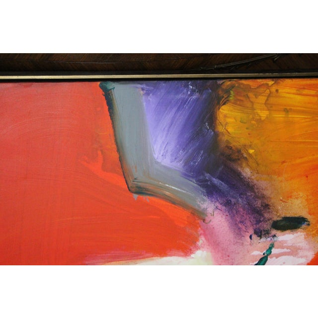 Canvas Red Caldwell Abstract Scene Oil Painting For Sale - Image 7 of 8