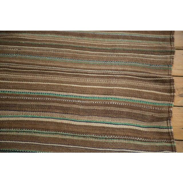 Vintage Moroccan Brown Stripe Kilim Rug - 5' X 7' For Sale In New York - Image 6 of 7
