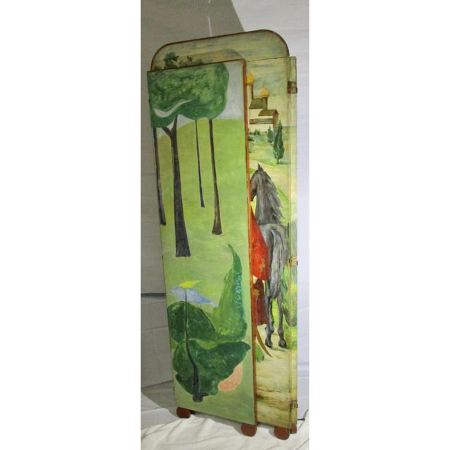 1930s 1930s Russian Fairy Tale Floor Screen For Sale - Image 5 of 13