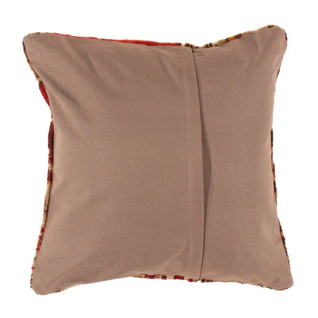 Offered is an antique Turkish hand woven Oushak pillow. This is 100% wool. Back 100% cotton. Beautiful colors and well...