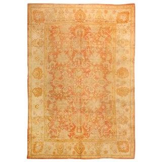 Antique 19th Century Turkish Oushak Carpet For Sale