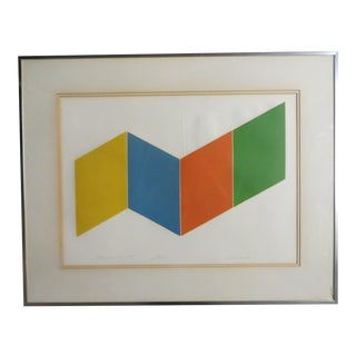 Spacebox 4 Silver Framed Painting For Sale