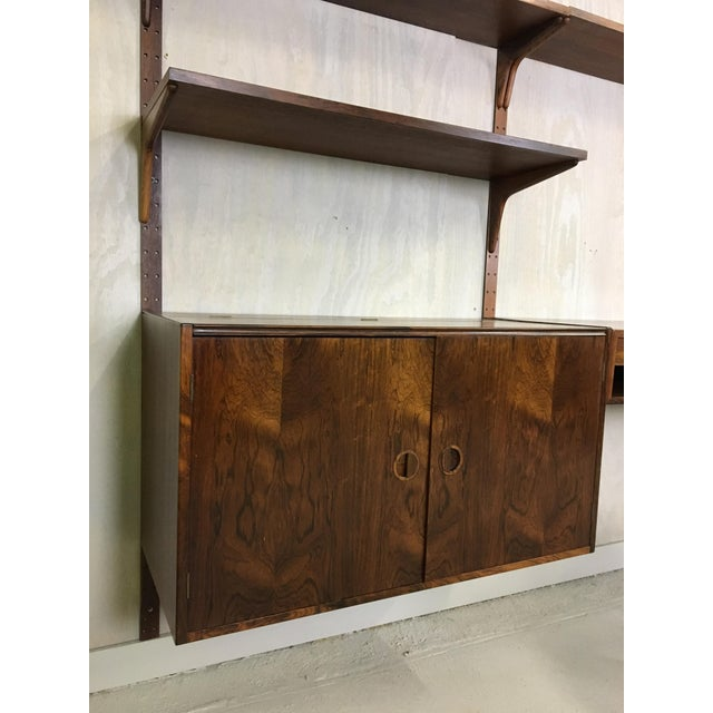 Danish Modern HG Danish Rosewood Wall Mounted Unit by Rud Thygesen and Johnny Sorenson For Sale - Image 3 of 13
