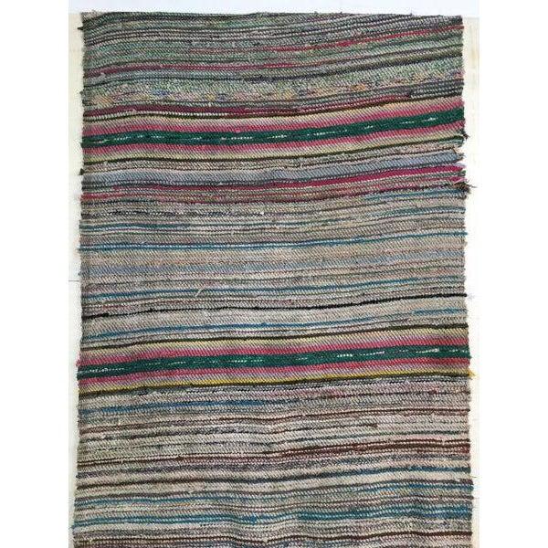 Antique Hand Woven Turkish Kilim Runner Rug - 3′3″ × 9′6″ - Image 5 of 11