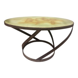 1950s Vintage Abbaye Du Bec Abstract Tile Table From For Sale