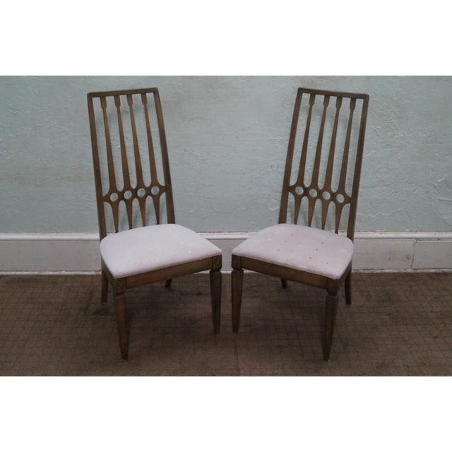Thomasville Mid-Century set of four Hollywood regency style dining chairs. These are approximately 56 years old and were...