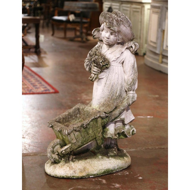 Decorate a garden or patio with this elegant antique outdoor sculpture composition. Carved in France circa 1880, the large...