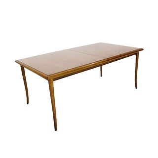 Mid-Century Modern Robsjohn Gibbings for Widdicomb Dining Table With Two Leaves For Sale