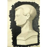 Image of Drawing of Male Bust For Sale