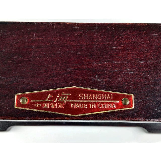 1920s Chinese Jade & Rosewood Cigarette Box For Sale - Image 12 of 13