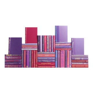 Modern Berry Book Wall - Set of 50