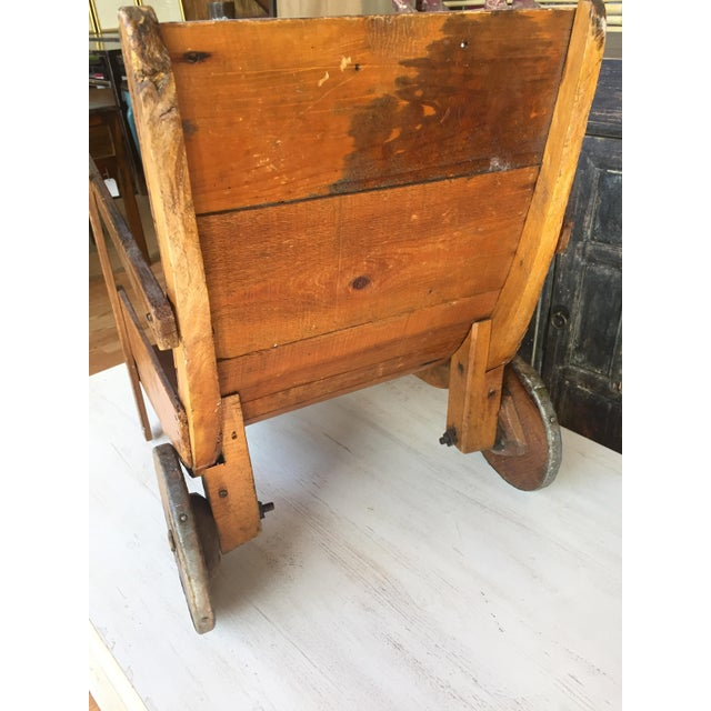 Country Antique Wood Sedan Chair For Sale - Image 3 of 6