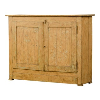 Antique French Tall Buffet Bas d'Armoire, Original Painted Finish circa 1830 For Sale
