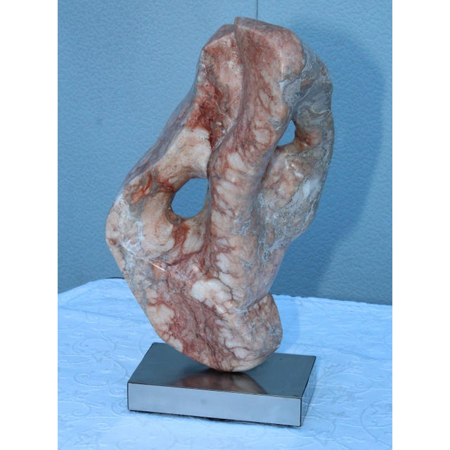 Mid-Century Modern Abstract Marble Sculpture For Sale - Image 10 of 13