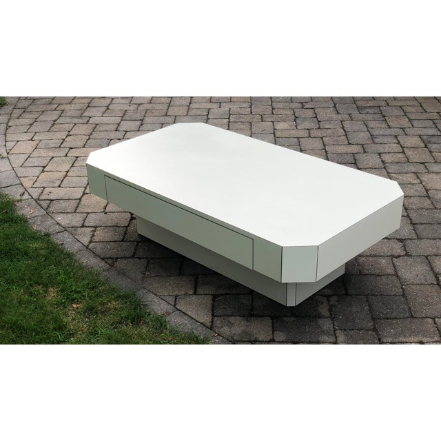 1980s Geometric Laminate Coffee Table For Sale - Image 10 of 13