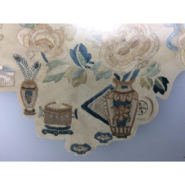 Textile 19th Century Chinese Framed Embroidery - A Pair For Sale - Image 7 of 11