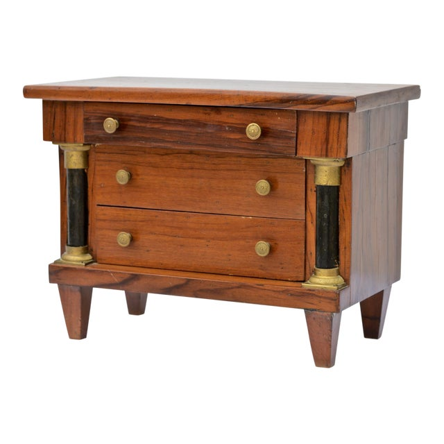 Miniature Italian Neoclassical Tabletop Commode For Sale