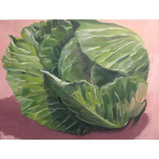"""Cabbage"" Oil Painting by Paula McCarty For Sale"