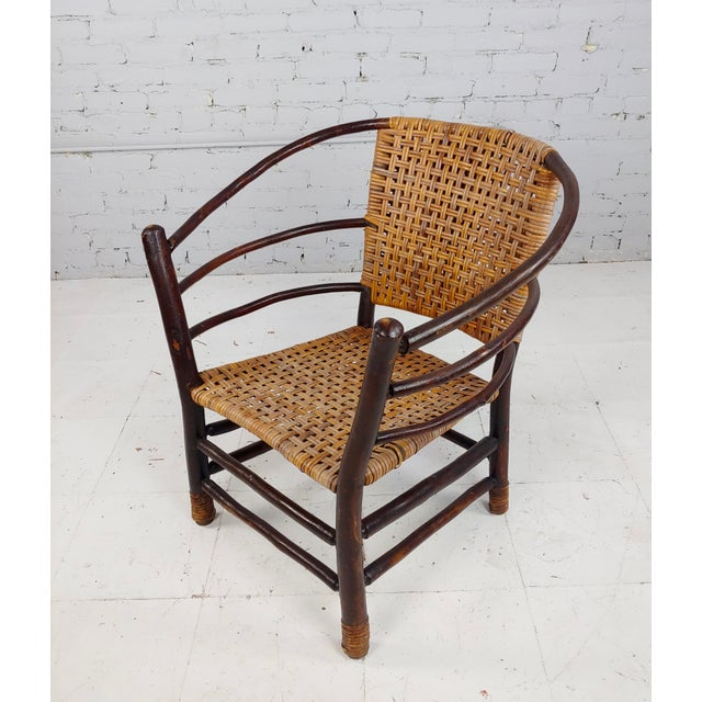 Wood Antique 1920s Bentwood Settee and Chairs -Salon - Set of 3 For Sale - Image 7 of 12