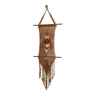 Brown Macrame Wall Hanging For Sale