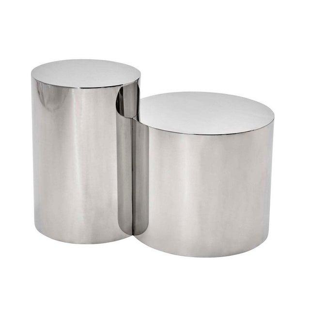 "Silver ""Geometria: Cerchi #4"" Coffee Table For Sale - Image 8 of 12"