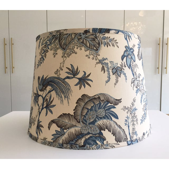 Designer Blue Tropical Toile Lamp Shade - Image 3 of 8
