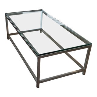 Crate and Barrel Glass Coffee Table