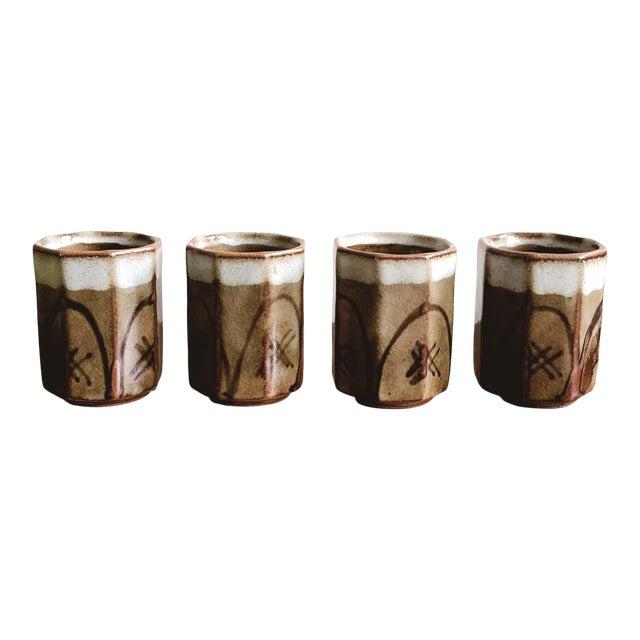 Vintage Asian Ceramic Sake Cups - Set of 4 For Sale