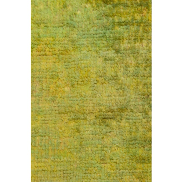"""Contemporary Green Over Dyed Hand Knotted Rug- 5' 8"""" x 8' 4"""" For Sale - Image 3 of 3"""