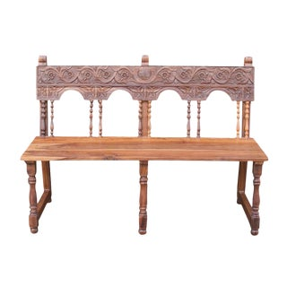 Antique Portuguese Colonial Bench For Sale