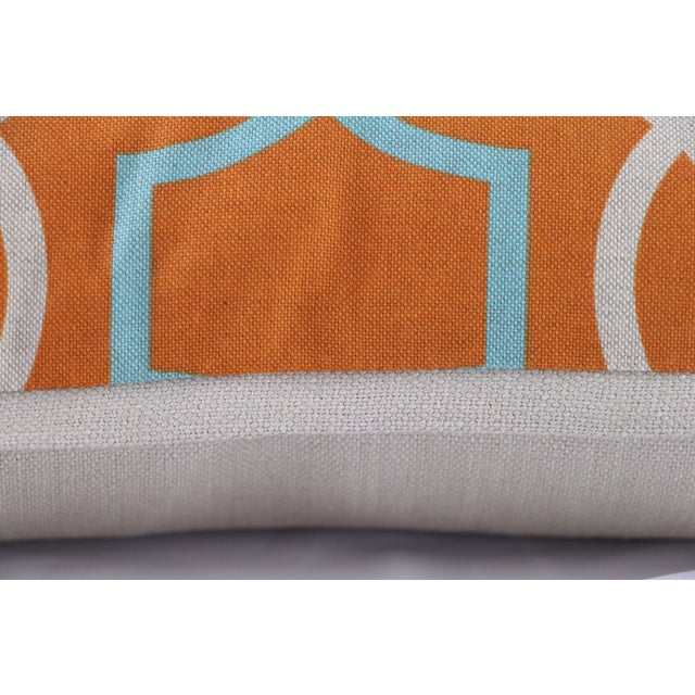 Orange Casey Linen Pillow - Image 5 of 7