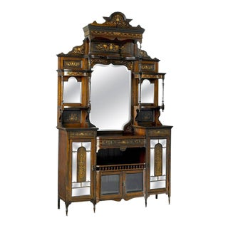 19th Century Inlaid Rosewood Étagère For Sale