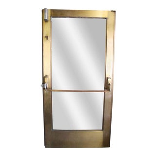 Bronze Door With Glass Inset