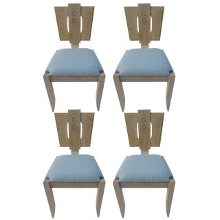 Set of Four Oak Chairs For Sale